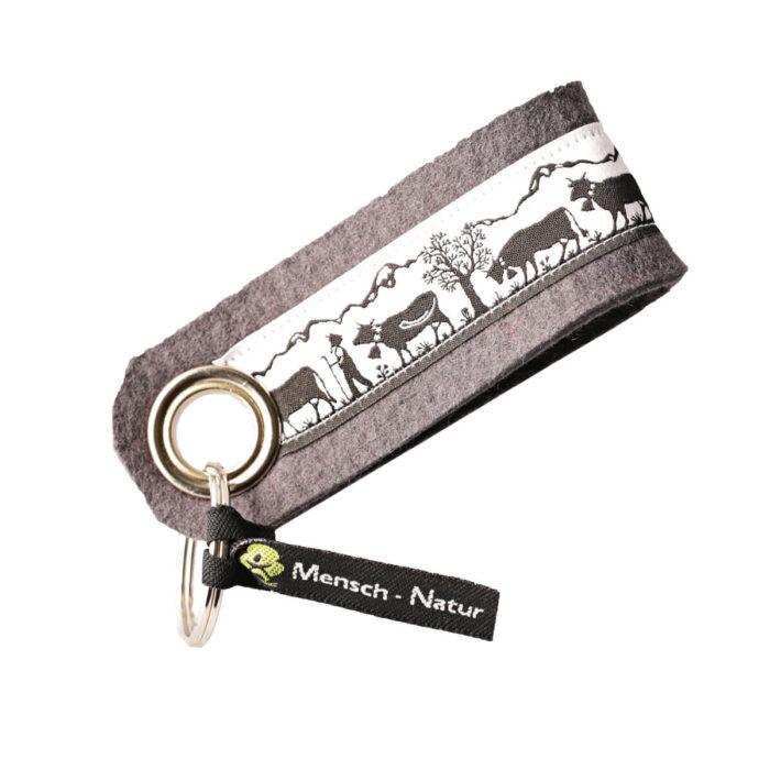 Schlüsselanghänger grau