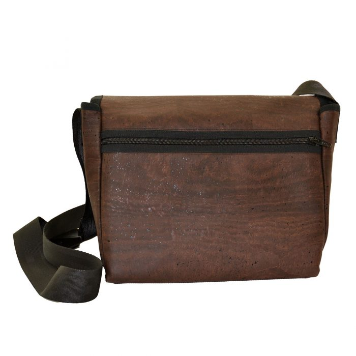 Handtasche dunkelbraun Rückseite
