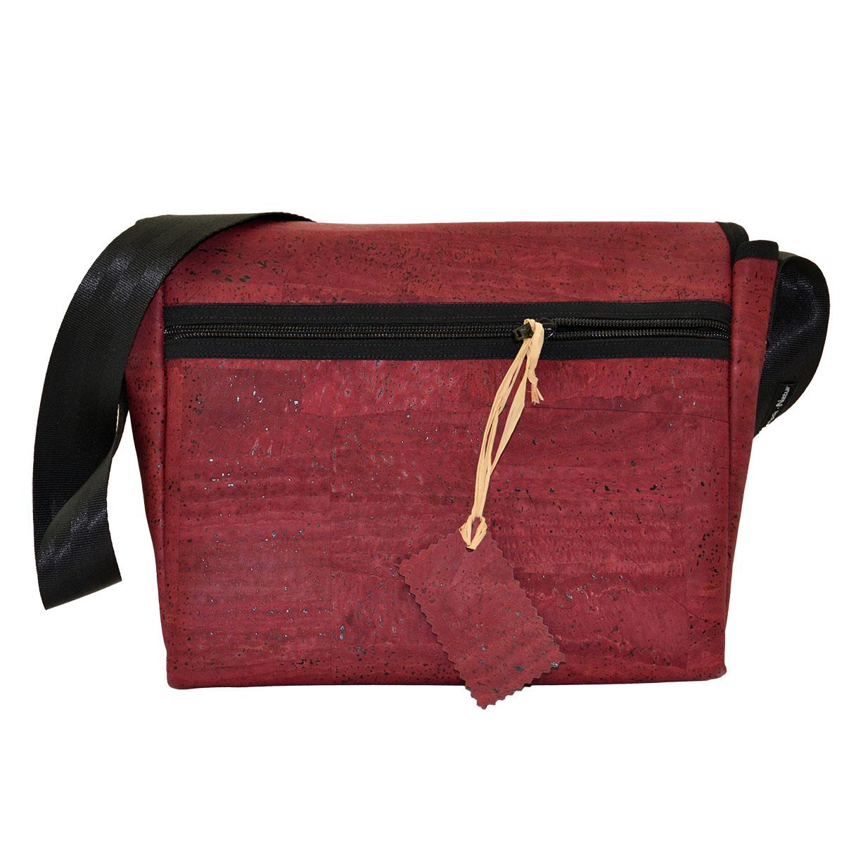 Handtasche weinrot Rückseite